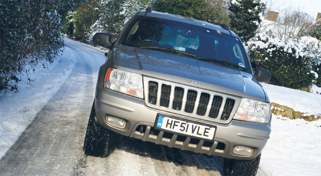 Hils's Standard Goodyear Wranglers coped fine in the lighter snow of 2009....