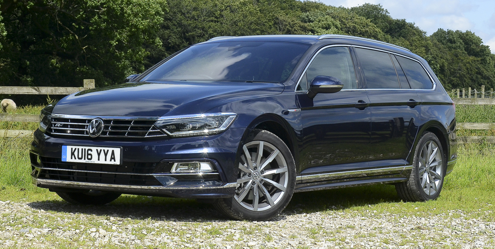 VW's new Passat R-Line estate embodies understated style and performance. Image: Mark Stone