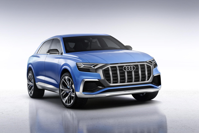 Audi takes charge with the Q8 concept at Detroit