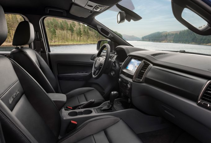 The Ford Ranger Wildtrak X interior