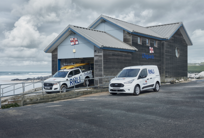 New Fistral Beach lifeguards' service vehicles